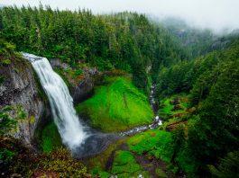 waterfall via ferratas